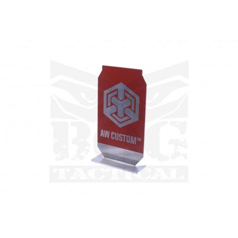 Black Owl Gear™ Practical Shooting Popper Target Plate - AW Custom™ (Red)