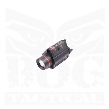 SSL 0702 Pistol Light with Red Laser (Black)